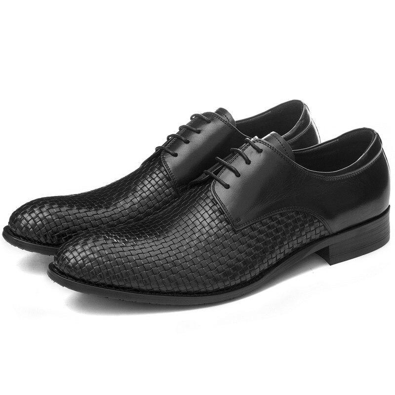 Cuir De D'été Chaussures Tissé Hommes D'affaires Grande Véritable Mariage En Eur45 Robe Conception Taille Formelle Mens zHg07
