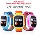 Новый GPS Q90 Сенсорный Экран WI-FI Позиции Smart Watch Дети SOS Call Location finder tracker PK Q50 Q60 для мобильного Телефона Смотреть