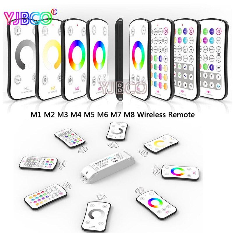 RF M1 M2 M3 M4 M5 M6 M7 M8 single color CT RGB Remote M4 5A CV Constant Voltage Receiver LED dimmer controller