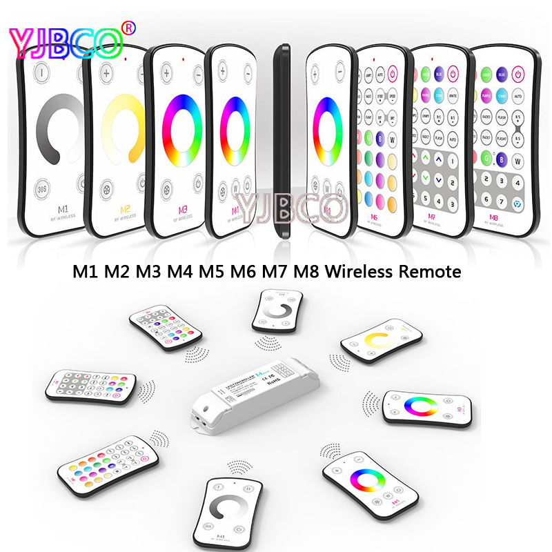 ltech Wireless RF M1 M2 M3 M4 M5 M6 M7 M8 single color CT RGB Remote M4-5A CV Constant Voltage Receiver LED dimmer controller m3 m4 5a m3 touch rf remote with m4 5a cv receiver led dimmer controller dc5v dc24v input 5a 4ch max 20a output