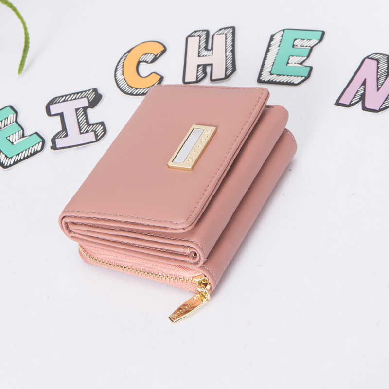 Weichen marca de design trifold pequena carteira feminina muitos departamentos carteiras femininas senhoras curto bolsa fina carteira alta qualidade