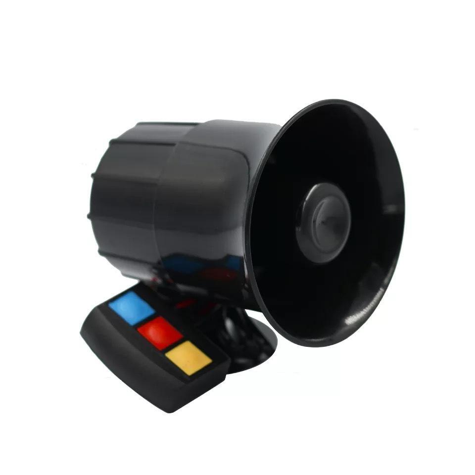 Dragonpad 30W 12V 3 Tone Sound Loud Car Motorcycle Warning Alarm Police Fire Siren Horn