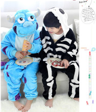 Skeleton and Sullivan Costumes Jumpsuit For Children Kids Onesie Pajamas Cosplay Costume Clothing For Halloween Carnival
