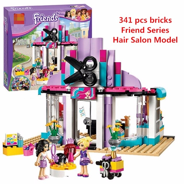 Bela 10539 Compatible with Lego Lepin 41093 Friends Series Heartlake Hair Salon Model Building Kits Blocks Bricks set Toys lepin 02012 city deepwater exploration vessel 60095 building blocks policeman toys children compatible with lego gift kid sets