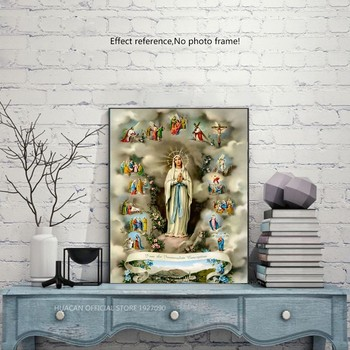 HUACAN 5D DIY Diamond Painting Religious Full Square New Arrival Home Decoration Diamond Embroidery Portrait