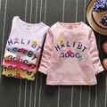 Baby Girls T-Shirt 2016 Summer Girls Designer Kids Brand T-shirt Baby Boys Clothes Cartoon Flowers Children T-Shirt Kids Clothes