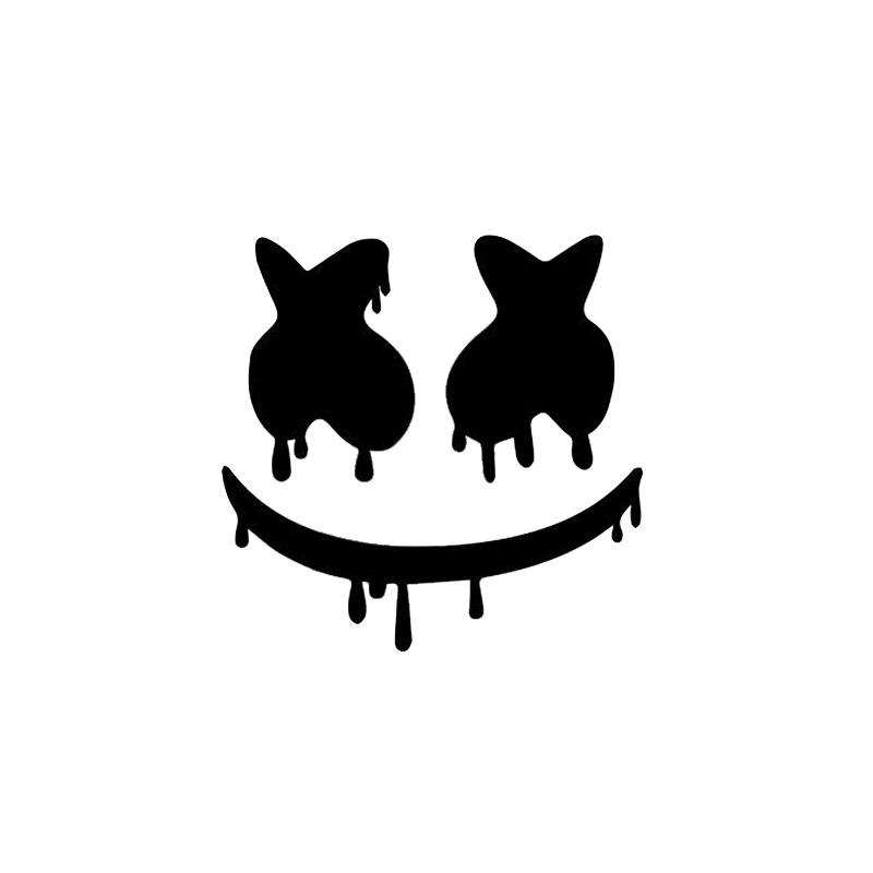 New Arrivals Dripping Marshmello EDM DJ Vinyl Decal Car Laptop Truck Bumper Window Decor Decals Car Stickers L817