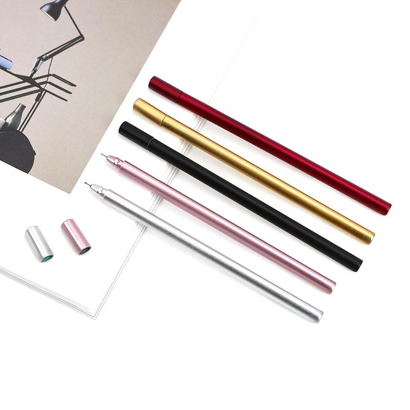 Korean Stationery Metal Hand Neutral Pen 0.5 Mm Creative Office Signature Pen School Supplies Writing Supplies
