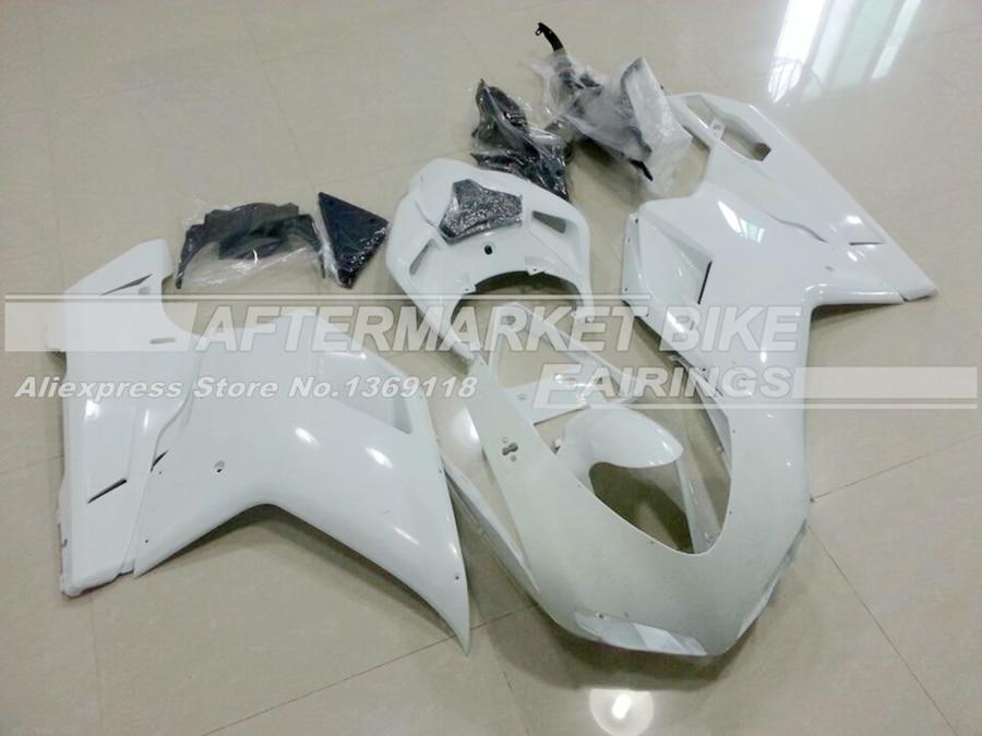 Выполните мотоцикл Неокрашенный ABS обтекатель комплект для Ducati 848 1098 1198 2007 2012 литья под давлением пустой кузов