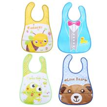 Baby Boys Girls Clothing Accessories Kids Waterproof Saliva Towel Cartoon Animal Image Bib Feeding Bandana Baby Care Tools