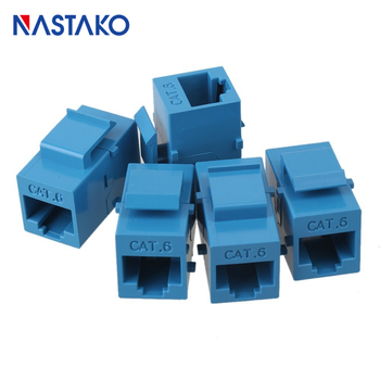 Blue RJ45 Connector keystone Jack Cat6 RJ45 Extension Coupler Ethernet Network LAN Cat 6 Coupler Jacks extend Adapter Black