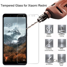 9H Tempered Glass For Xiaomi Pocophone F1 Mi8 Mi 5X A1 Screen Protector Film For Xiaomi Redmi 5 6 4A 5A 6A 5plus Note 5 Pro S2(China)