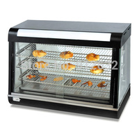 Curved Glass Warming Showcase cabinet Cooked food preservation tank