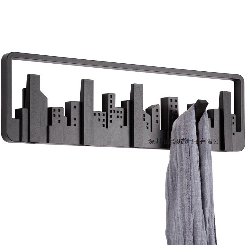 Creative Cityscape art Wall Door Holder Hook Hanger Hanging Coat Hooks Clothes Rack bedroom livingroom Bathroom Home Decor xoxo best promotion 3 4 5 6 7 stainless hooks coat hat holder clothes rack hook wall home kitchen bathroom hanger door decor
