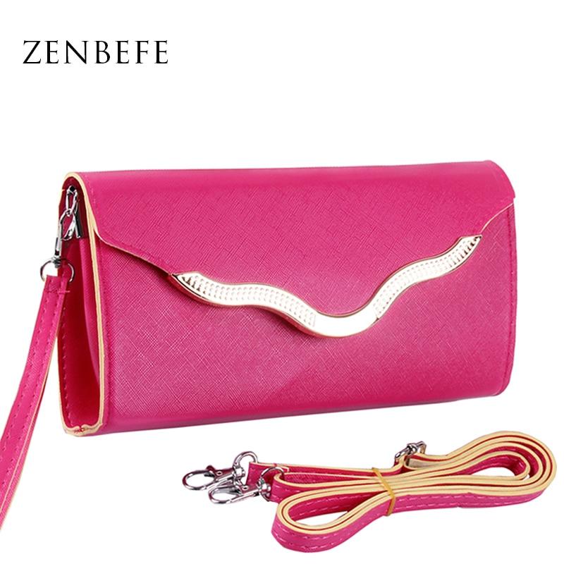 ZENBEFE Mode Kvinnor Plånbok Design Mobiltelefon Kort Lång Lady Plånbok Väska Koppling Pass Väska Liten Kvinna Väska Små Väskor Väskor