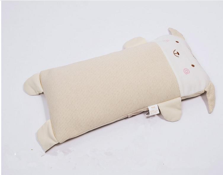 Natural Organic Cotton Cartoon Sheep Filling Silk Baby Pillow Soft Comfortable Multifunction Baby Sleep Pillow 1pcs