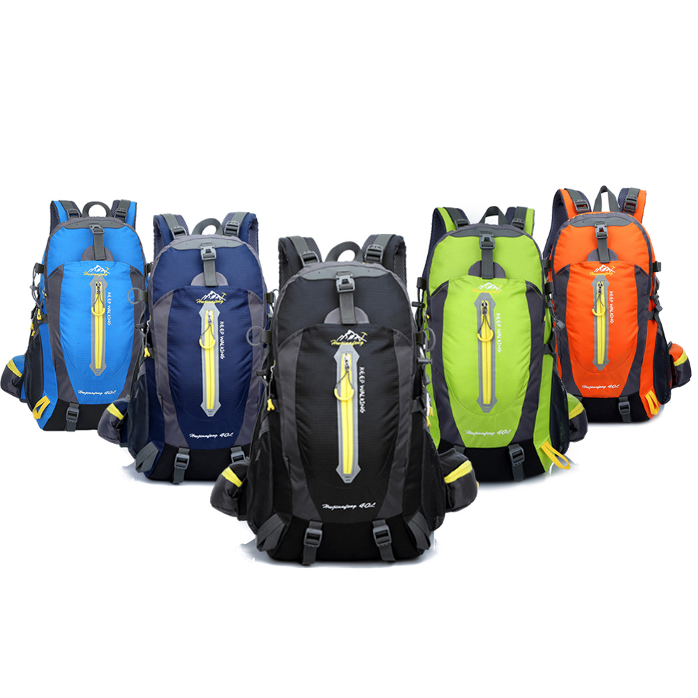 5c868af4db Men Women 40L Camping Bags Water Resistant Travel Backpack Camp Hike Laptop  Daypack Trekking Climb Back Bags-in Climbing Bags from Sports    Entertainment on ...