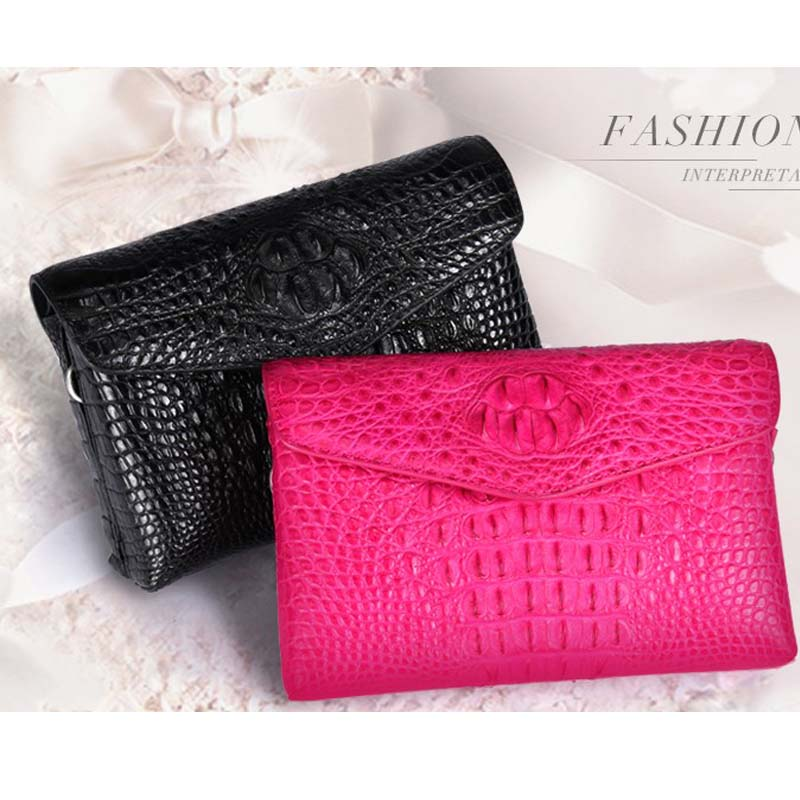 yuanyu 2018 new crocodile leather women clutch bag for genuine leather Thai crocodile bag single shoulder bag for women yuanyu new crocodile wallet alligatorreal leather women bag real crocodile leather women purse women clutches
