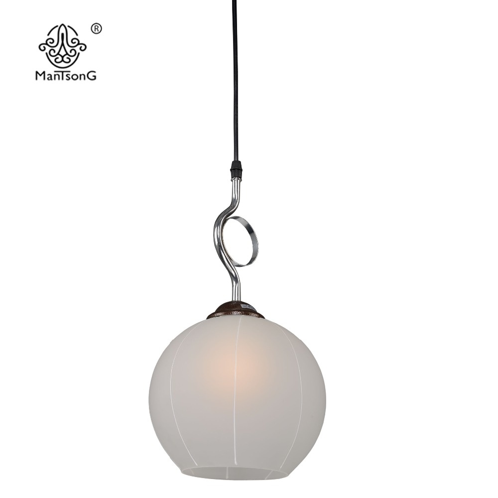 Lighting kitchen dining room lamp luminaire in chandeliers from lights - Modern Glass Lampshade Pendant Lights Bar Counter Shop Luminaire Lighting Kitchen Fixtures Dining Living Room Pendant