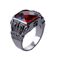 925 Sterling Silver The Vampire Diaries Vampire Knight Crown Ring Jewelry Gift Men's Ring Men's Jewelry High Quality