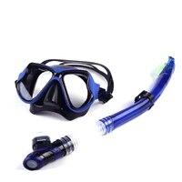 Professionelle Tauchen Maske Schnorchel Anti-Fog Goggles Gläser Set Silikon Schwimmen Tauchen Ausrüstung 7 Farbe Tauchen Maske