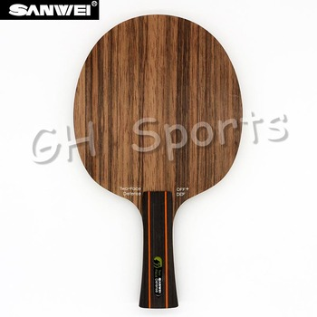Sanwei TWO FACE (2 Face, Attack & Defence, Ebony & Hinoki Surface) Table Tennis Blade Defense Racket Ping Pong Bat Paddle