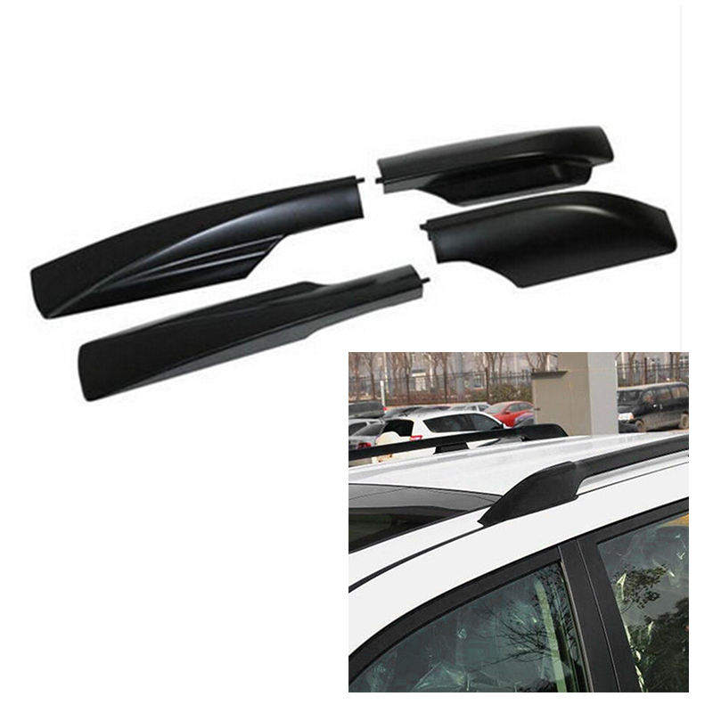 4pcs Black ABS Roof Rack Rail End Protection Cover Shell For <font><b>Toyota</b></font> <font><b>Land</b></font> <font><b>Cruiser</b></font> <font><b>Prado</b></font> <font><b>FJ120</b></font> 2010-2018 Car Styling Accessories image