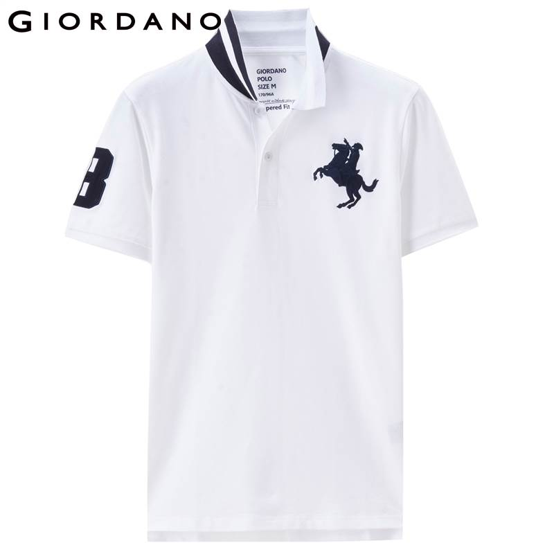 7f8c0aa39b11 Dropwow Giordano Men Pique Polo Napoleon Embroidery Polo Shirt Men ...