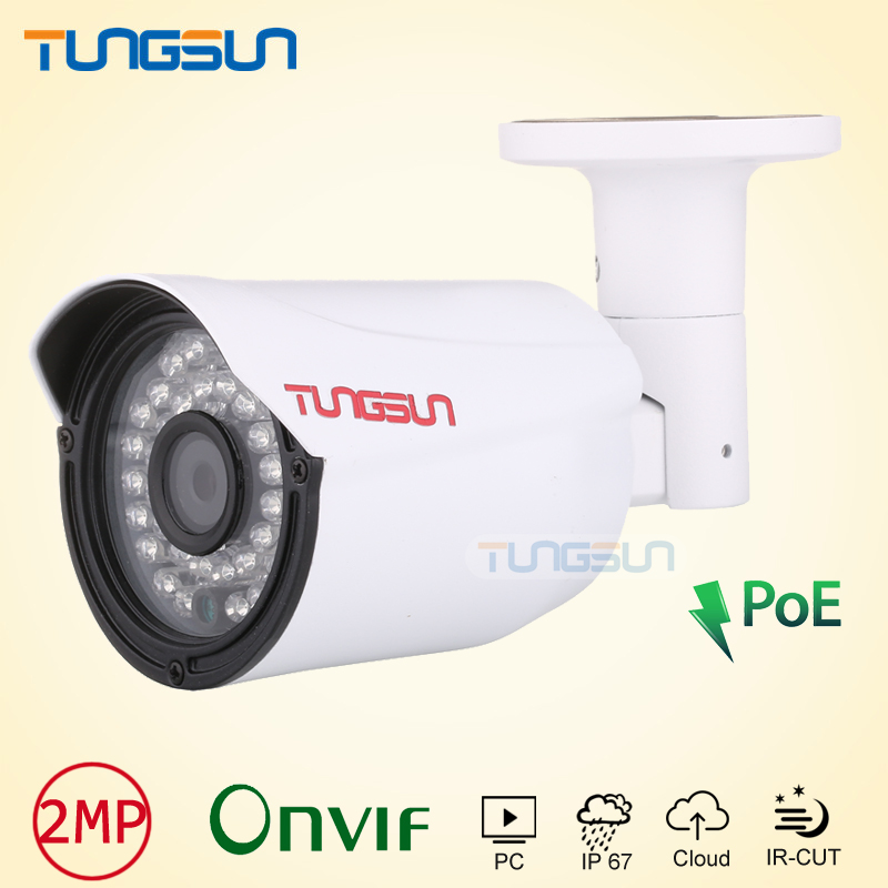 ФОТО NEW Quality Picks IP Camera 1080P POE CCTV 36led infrared Bullet Metal Waterproof Outdoor Onvif Cam Security 2mp Surveillance