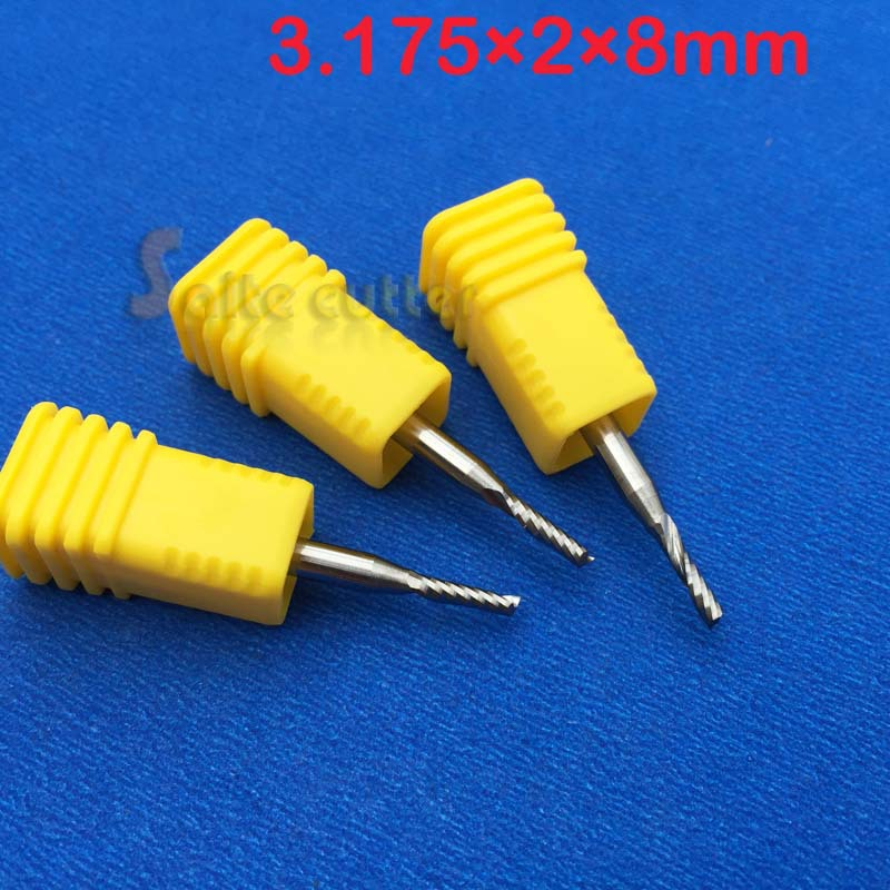 3pcs Aaa Shank Dia 1 8 2mm Cutting Cnc Router Single Flute
