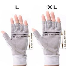 Maximumcatch Fishing Gloves Size L/XL Fly Fishing Anti-UV Sun Protection Half Finger 50+ UPF Outdoor