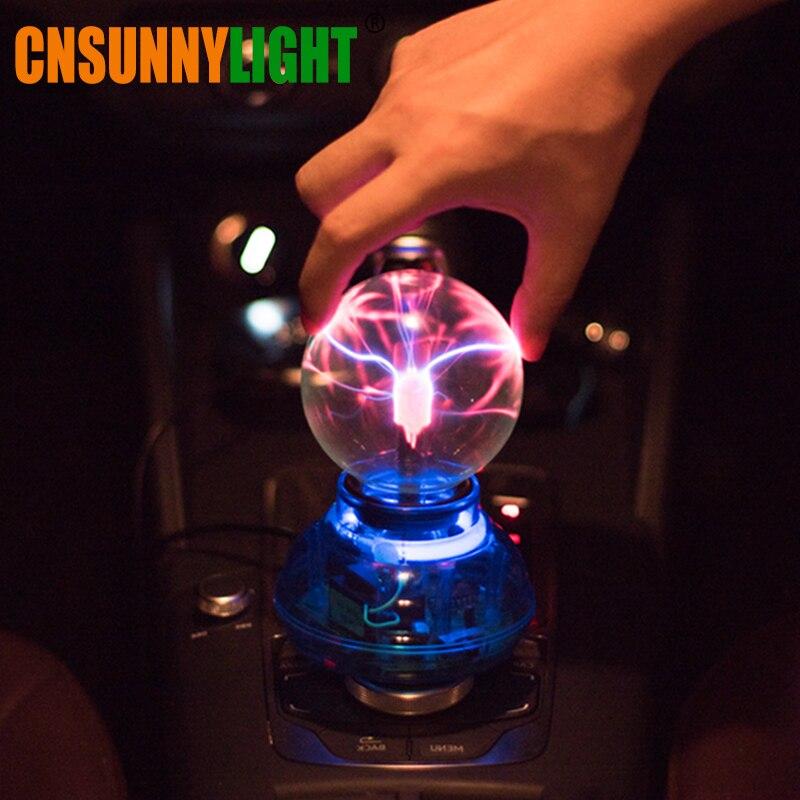 CNSUNNYLIGHT автомобиль музыка звук Управление светодиодный USB плазменный шар электрост ...