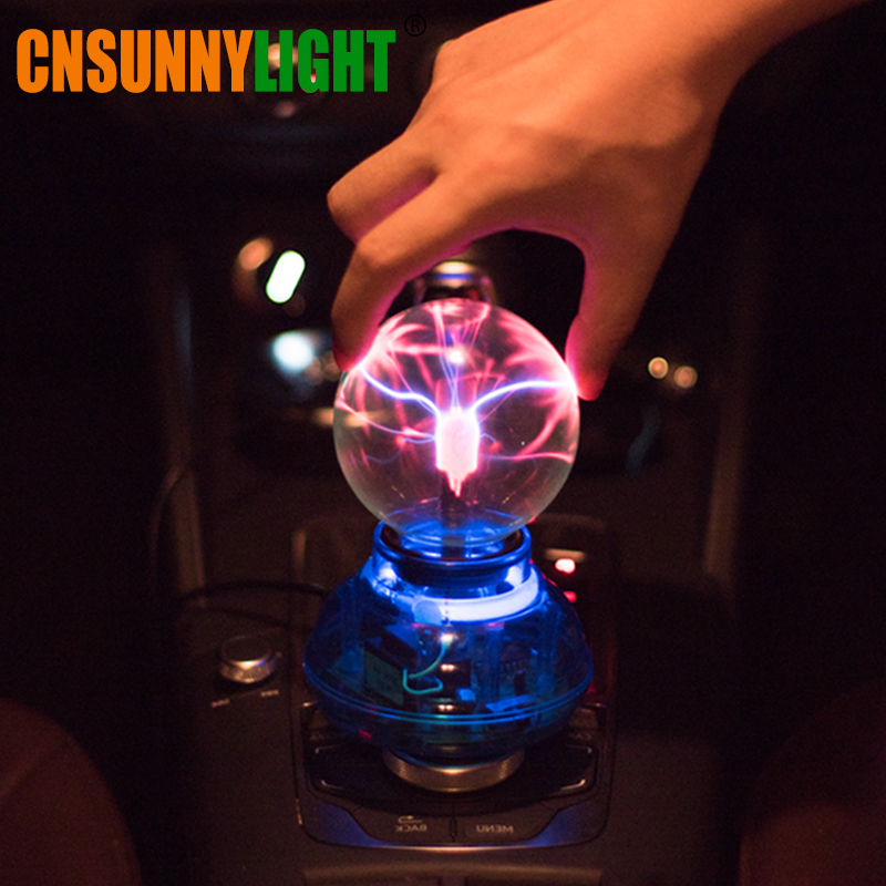 CNSUNNYLIGHT coche Music Sound Control LED USB Plasma bola electrostática lámpara decoración atmósfera luces DJ Party iluminación