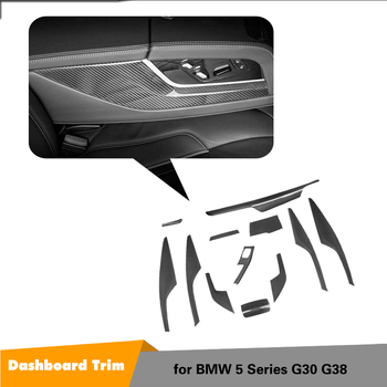 Bmw 5 시리즈 g30 g38 520i 중앙 제어 커버 트림 왼손잡이 용 카본 파이버 인테리어 대시 보드 트림 커버