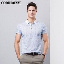 COODRONY Business Casual Short Sleeve T Shirt Men Cotton T-Shirt 2019 Spring Summer Fashion Turn-down Collar Tshirt S95123
