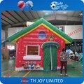 4mLx3mWx3mH impresión completa al aire libre inflable casa de santa, navidad inflable santa gruta para la venta, inflable santa casa tienda de campaña