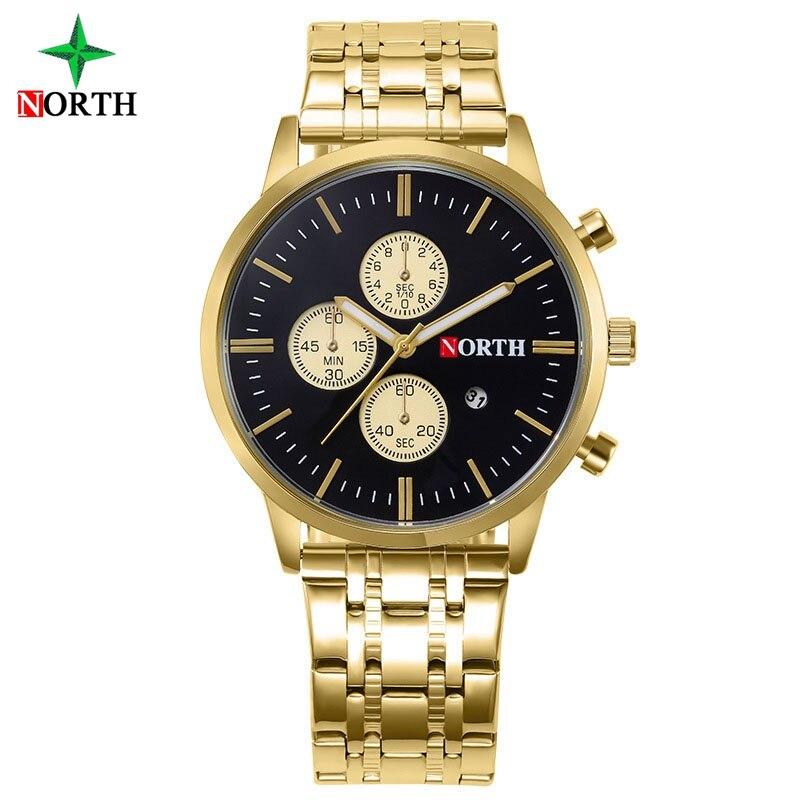 Reloj de oro de los hombres de la moda del norte del negocio del - Relojes para hombres