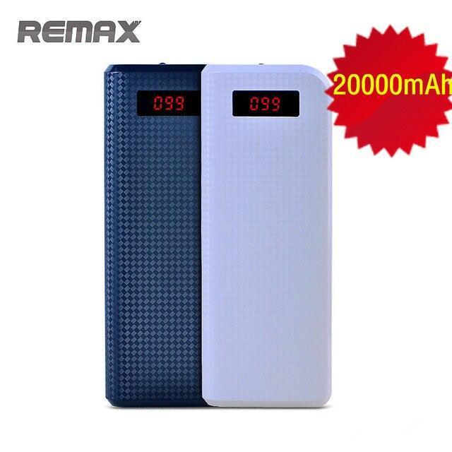 REMAX Proda Power Bank 20000 мАч Портативный Dual USB Светодиодные Powerbank Внешнее Зарядное Устройство Резервного Копирования для iPhone HTC Телефоны
