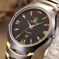 Tungsten Steel Mens Watches Top Brand Luxury Reginald Sport Watch For Men Business Quartz Fashion Causal Watch relogio masculino