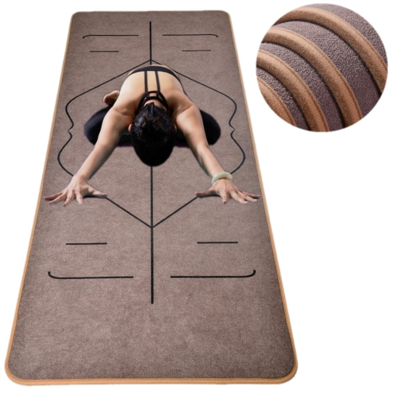 Unique Design Velvet Body Line TPE Yoga Mats 183X65cm*6mm Sport Exercise Yoga Mats for Fitness Gymnastics with Mat Customizable dature tpe yoga mat 6mm fitness mat fitness yoga sport mat gymnastics mats with yoga bag balance pad yogamat 183 61cm 6mm