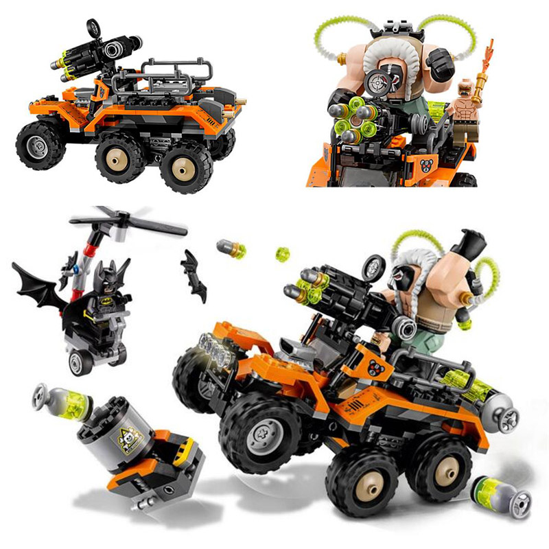 2017 07081 Batman Movie Bane Toxic Truck Attack Bat Mutant Leader Building Block Toys For Gift Batman 70914