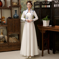 Traditional China New Woman Dresses Spring and Autumn Vintage Chinese qipao dresses long style improved cheongsam qipao