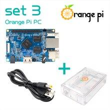 오렌지 파이 PC SET3: 오렌지 파이 PC + ABS 투명 케이스 + 4.0MM   1.7MM USB DC 전원 케이블