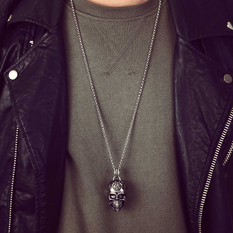 Mcllroy 2018 new fashion necklaces pendants for men titanium steel jewelry skull punk chain necklace bts birthday gift jewelry