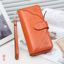 KZNI Wallet Female Designer Women Purses Genuine Leather Purse Portefeuille Femme Billeteras Para Mujer