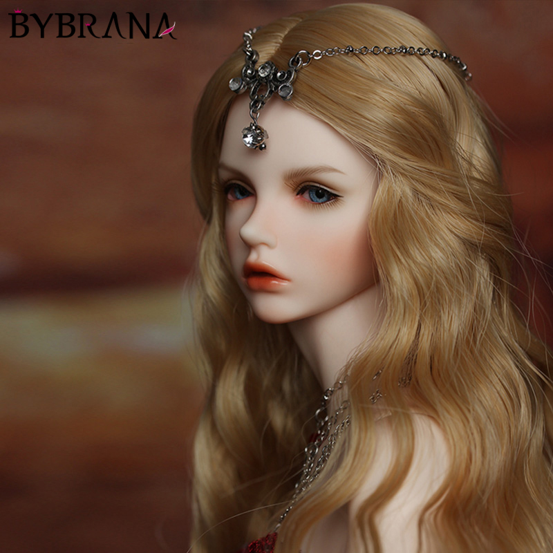Bybrana <font><b>BJD</b></font> <font><b>Wig</b></font> Fair size 1/3 1/4 1/6 <font><b>1/8</b></font> Long Wave High Temperature Fiber hair for <font><b>Dolls</b></font> image