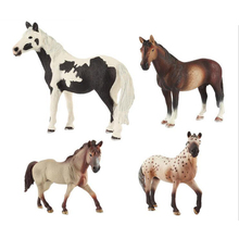 2017 New 1pcs Simulation Wild Animal little horse pony Classic font b Toy b font domestic