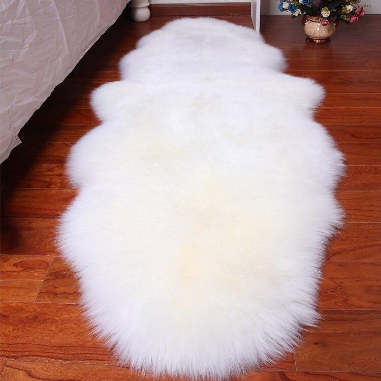 Tapis laine peau de mouton tapis chambre tapis de lit tapis de salon blanc tatami tapis canapé coussin peau de mouton laine blanche tapis de fourrure