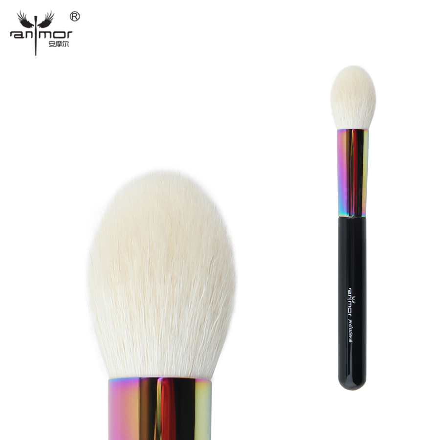 Anmor Goat Hair Tapered Face Brush High Quality Powder Blush Makeup Brushes for Daily or Professional