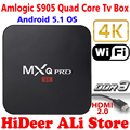 2016 New MX Pro Android TV Box Amlogic S905 Quad Core Android 5.1 Kodi 16.0 Full loaded add-ons MXQPRO